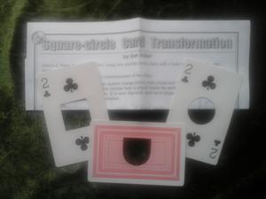 Square Circle Card Transformation
