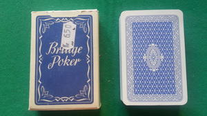 Bridge poker, blå